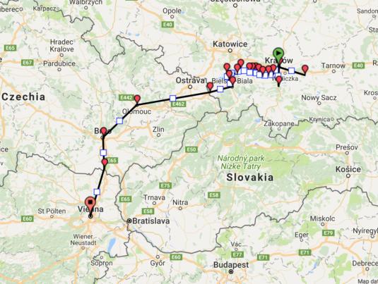 Trasa 4 Kraków - Wiedeń BARTHUR